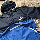 Анорак мужской черный с голубым мужская куртка. Живое фото, фото 3