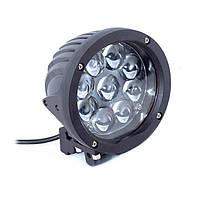Дополнительные светодиодные противотуманные LED фары (1шт) 10-30V 18 45W 140*173*90мм дальнего света  LED-фары