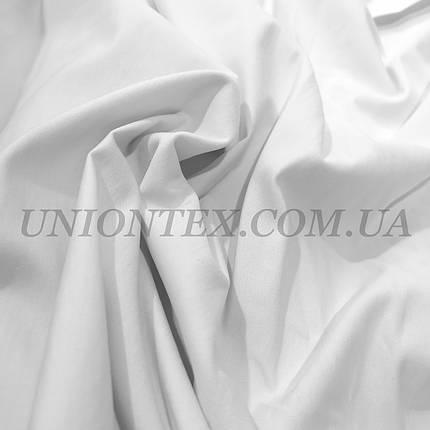 Ткань бенгалин Турция плотный белый, фото 2