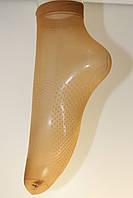 Носочки женские капроновые Бежевый с силиконом (уп. 10 пар) цена за упаковку., фото 1