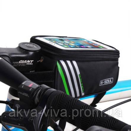 Велосумка на раму с отделом для смартфона 16.5*9*8 см (ВС-100)