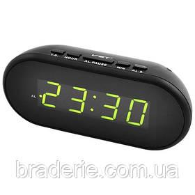 Часы электронные сетевые USB VST 712-2 Зеленое свечение
