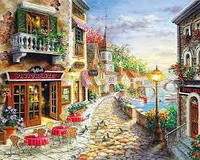 Картина по номерам кафе на набережной, фото 1