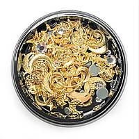 Набор металлических украшений для ногтей