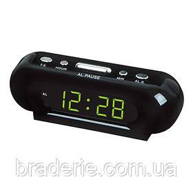 Часы электронные сетевые VST 716-2 Зеленое свечение