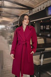 Женское пальто Бордовый