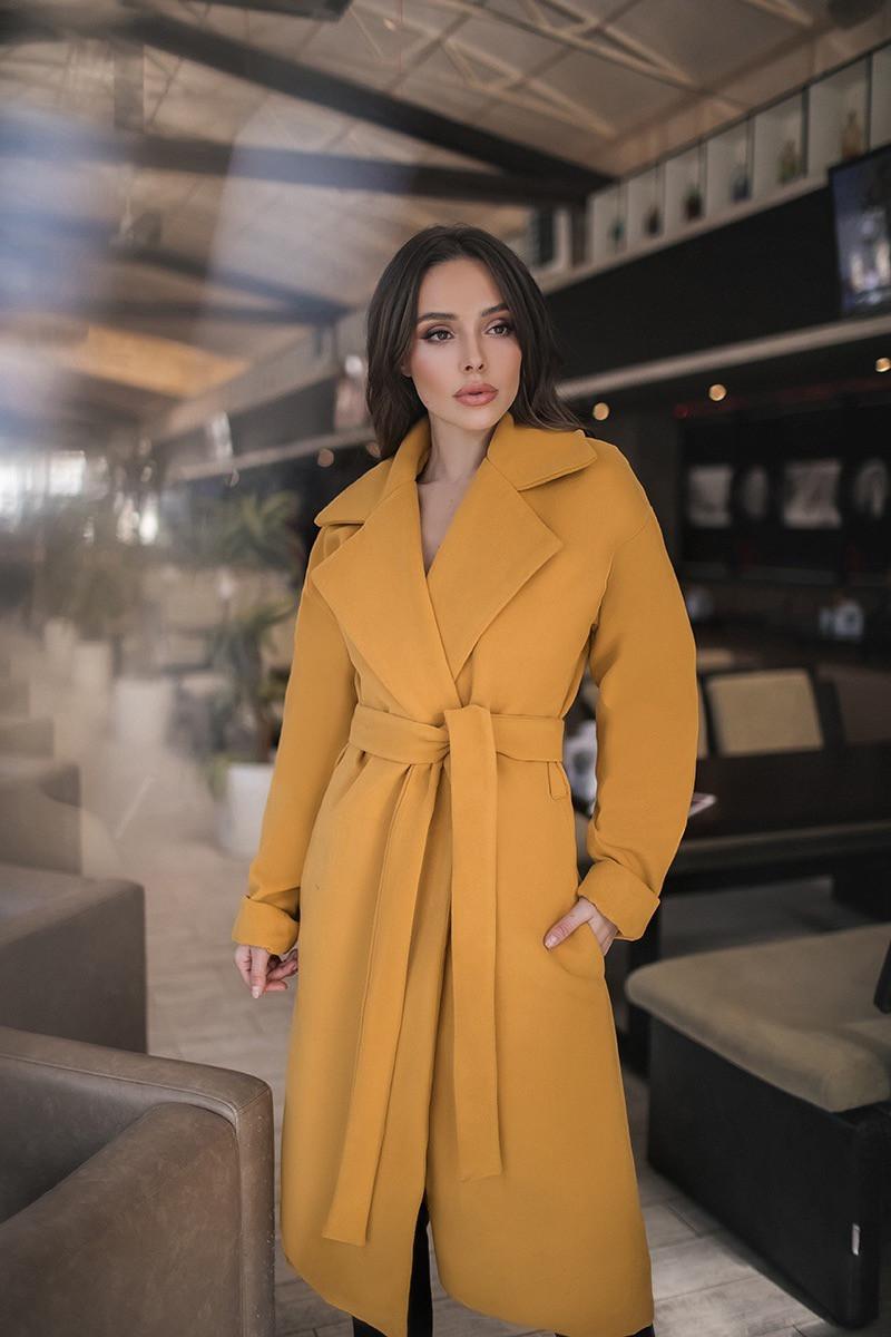 Женское пальто Горчица