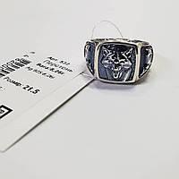 Серебряный перстень Георгий Победоносец с чернением