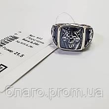 Срібний перстень Георгій Побідоносець з чорнінням