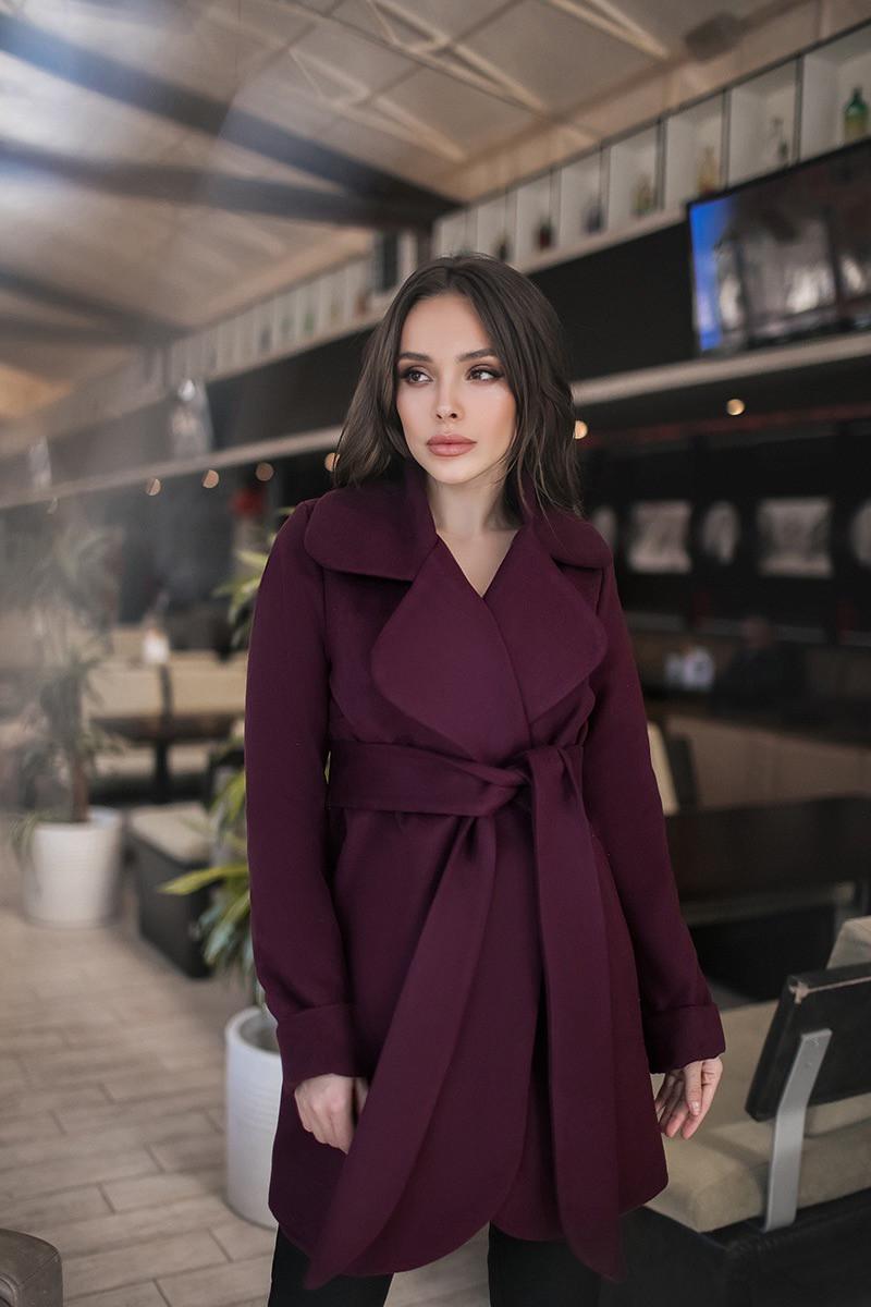 Пальто  женское Бордовый