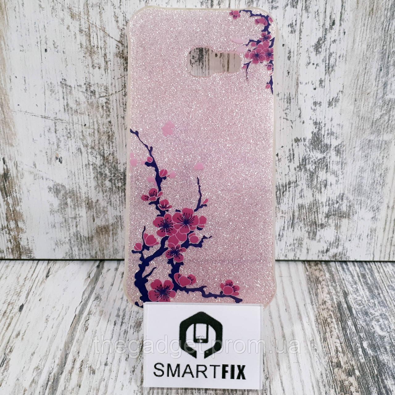 Блестящий чехол для Samsung A3 2017 (А320) Розовый