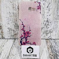 Блестящий чехол для Samsung A3 2017 (А320) Розовый, фото 1