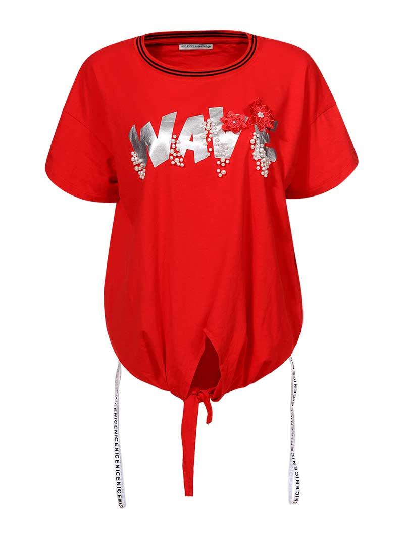 Оригинальная Футболка женская SS19 WPO-8158 Красная