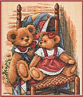 Набор для вышивки крестом Dimensions 35103 «Мишки на одеяле»