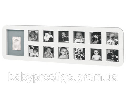 Рамка Baby art First Year Print Frame white & grey( 1-й год жизни)