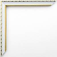 Фоторамка 13х18 17 мм белая с золотом
