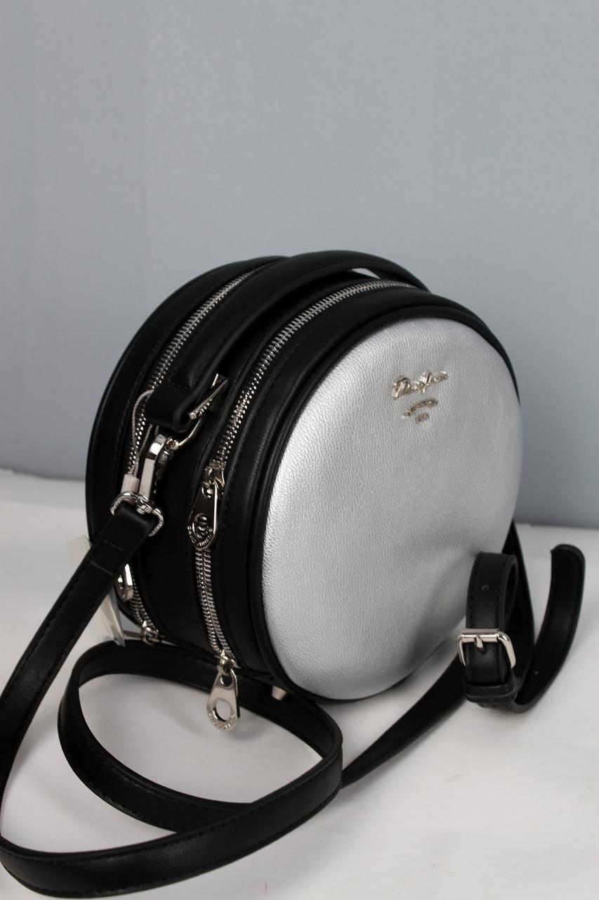 50b6616f5 Круглая женская сумка David Jones серебристого цвета. - Интернет-магазин  сумок и аксессуаров