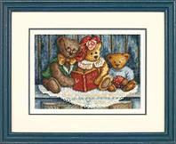 Набор для вышивки крестом Dimensions 65054 «Мишки», фото 1