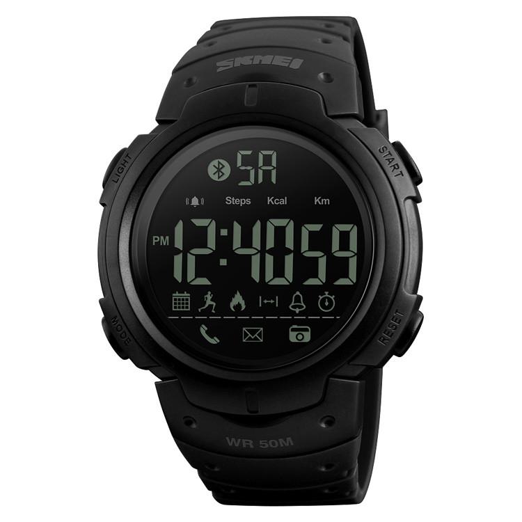 Skmei 1301 черные мужские спортивные смарт часы