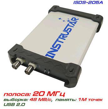 ISDS205A USB-осциллограф 2 х 20МГц