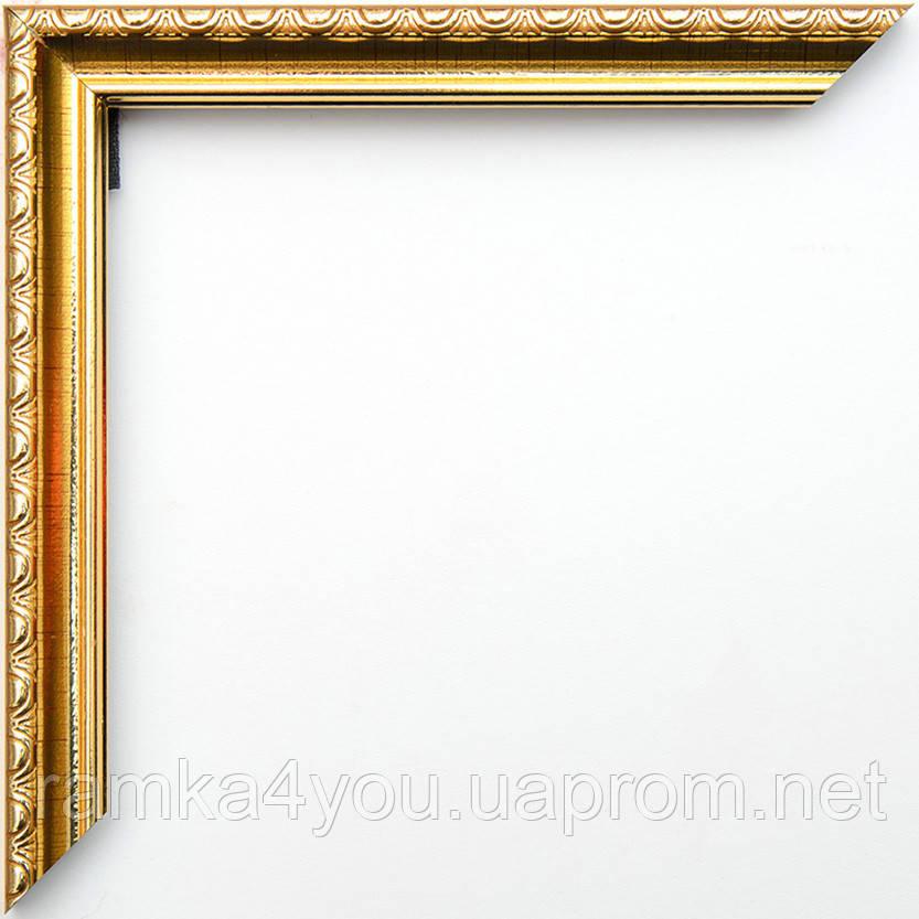 Фоторамка 13х18 17 мм золотая