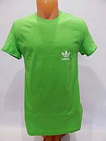 Мужская футболка однотонная ADIDAS реплика зеленая, фото 1