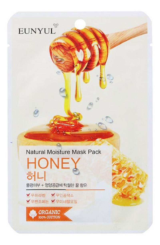Зволожуюча тканинна маска для обличчя з медом Eunyul Natural Moisture Mask Pack Honey 25 мл (8809435402166)