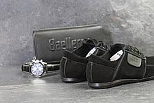 Замшевые мужские туфли VanKristi Black ,черные, фото 2