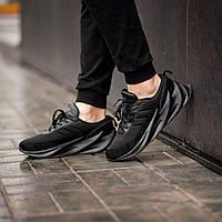 Мужские кроссовки Adidas Sharks Black (Реплика ААА+), фото 1
