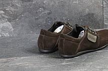 Замшевые мужские туфли VanKristi Black,коричневые, фото 2