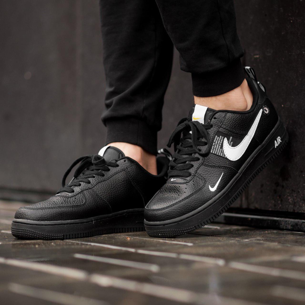 Кроссовки мужские в стиле Nike Air Force LV8 Utility Black (Реплика ААА+)