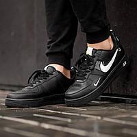 Кроссовки мужские в стиле Nike Air Force LV8 Utility Black (Реплика ААА+), фото 1