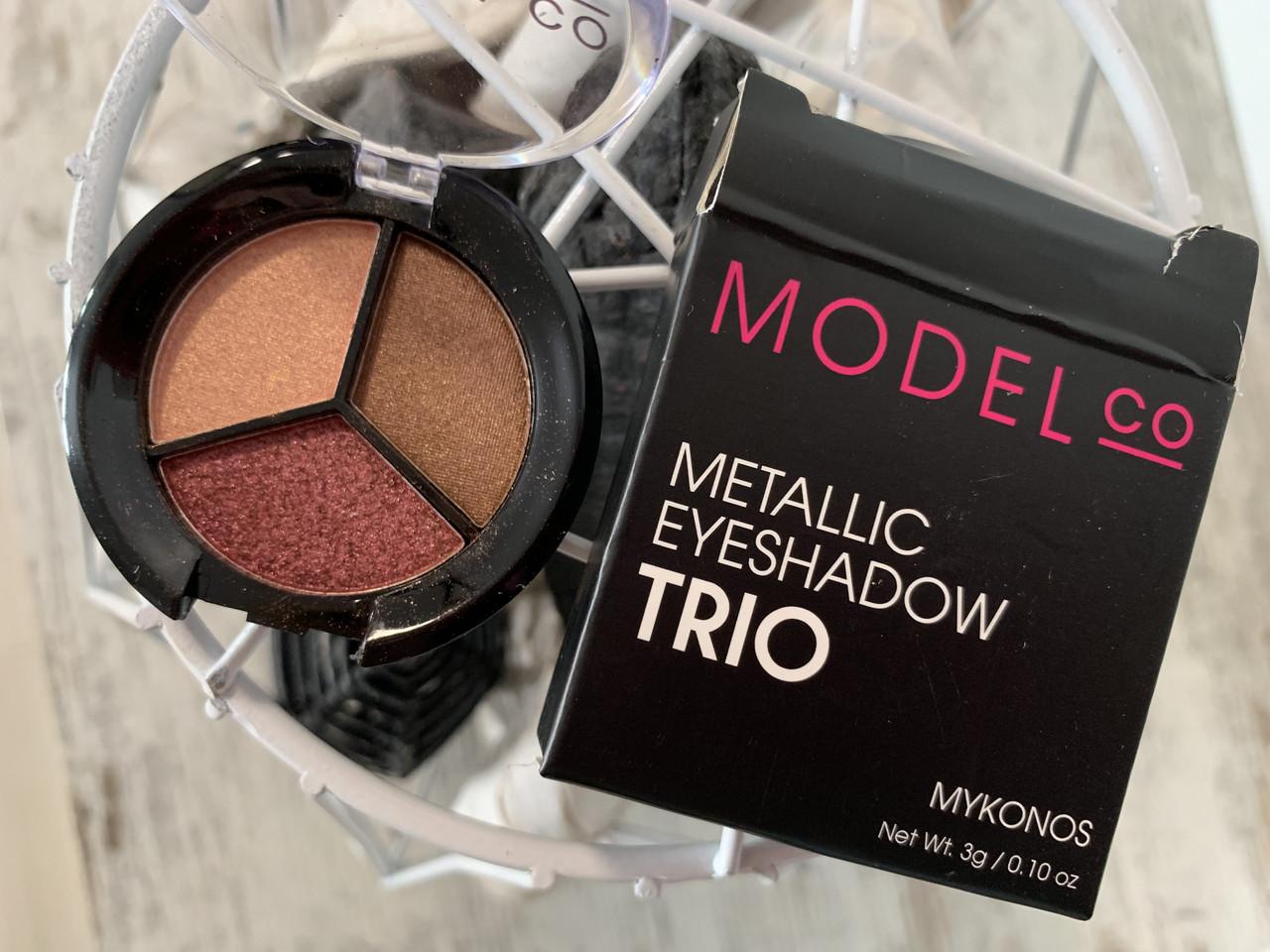 Тени-трио металлик MODEL CO Metallic Eyeshadow Trio