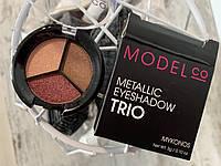 Тени-трио металлик MODEL CO Metallic Eyeshadow Trio, фото 1