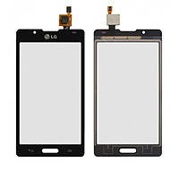 Сенсор (тачскрин) для LG P710 Optimus L7 II/P713/P714 черный Оригинал, фото 2