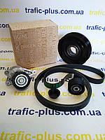 Комплект ремня генератора (шкив+ролик+натяжитель+ремень) на Рено Трафик  (7PK) 06-> 2.0dCi - Оригинал