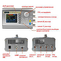 JDS2900-15M генератор сигналів DDS, 2 каналу х 15МГц, фото 8
