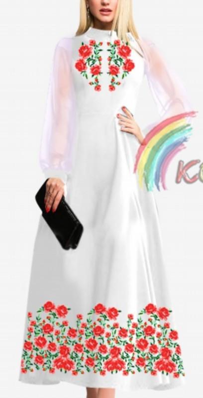 ПЖ-001 Платье с шифоновыми рукавами