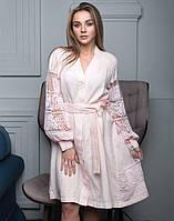 Сукня рожева лляна вишита розміри в наявності 48