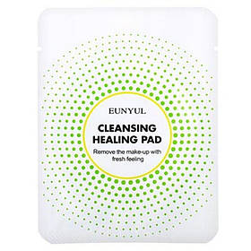 Котоновая подушечка для демакияжа с кислотами Eunyul Cleansing Healing Pad 1 шт (8809435403545)
