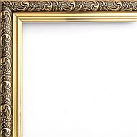 Фоторамка 13х18 21 мм коричневая с золотом