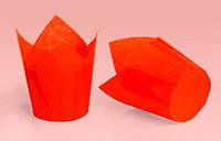 """Форма бумажная для кексов """"Тюльпан"""" красная, дно 5 см, 12 шт"""