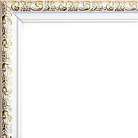 Фоторамка 13х18 21 мм белая с золотом
