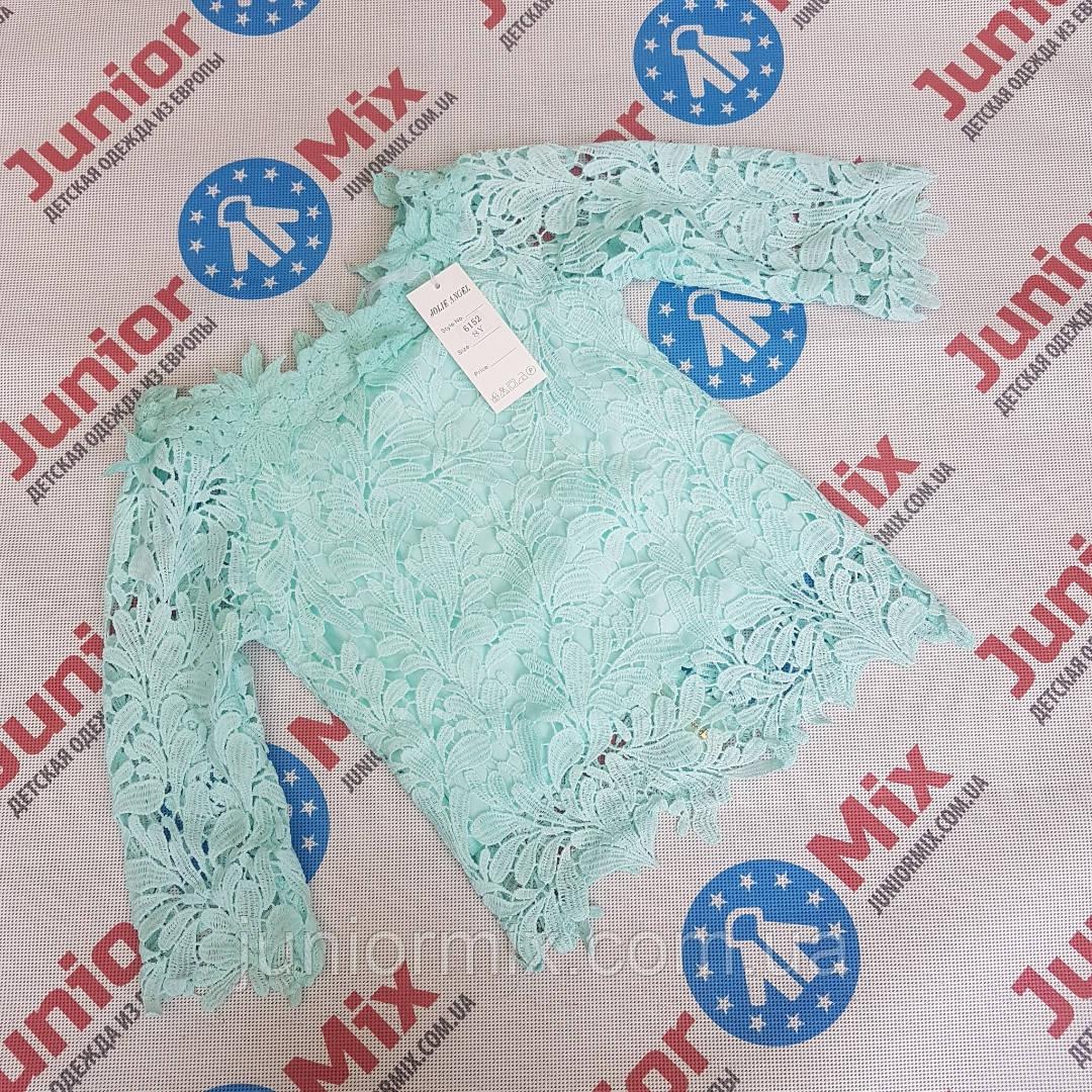 Оптом детские гипюровые  модные блузки для девочек