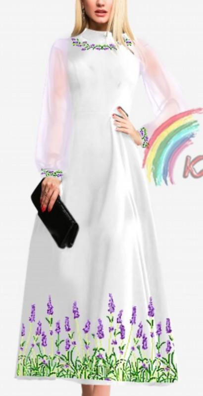 ПЖ-003 Сукня з шифоновими рукавами