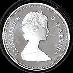 Серебряная монета Канады 1 доллар 1983 г. Универсиада в Эдмонтон. Пруф , фото 2