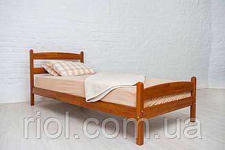 Односпальне ліжко з бука Ліка ТМ Олімп
