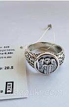 Срібний перстень Архангел Михаїл з чорнінням