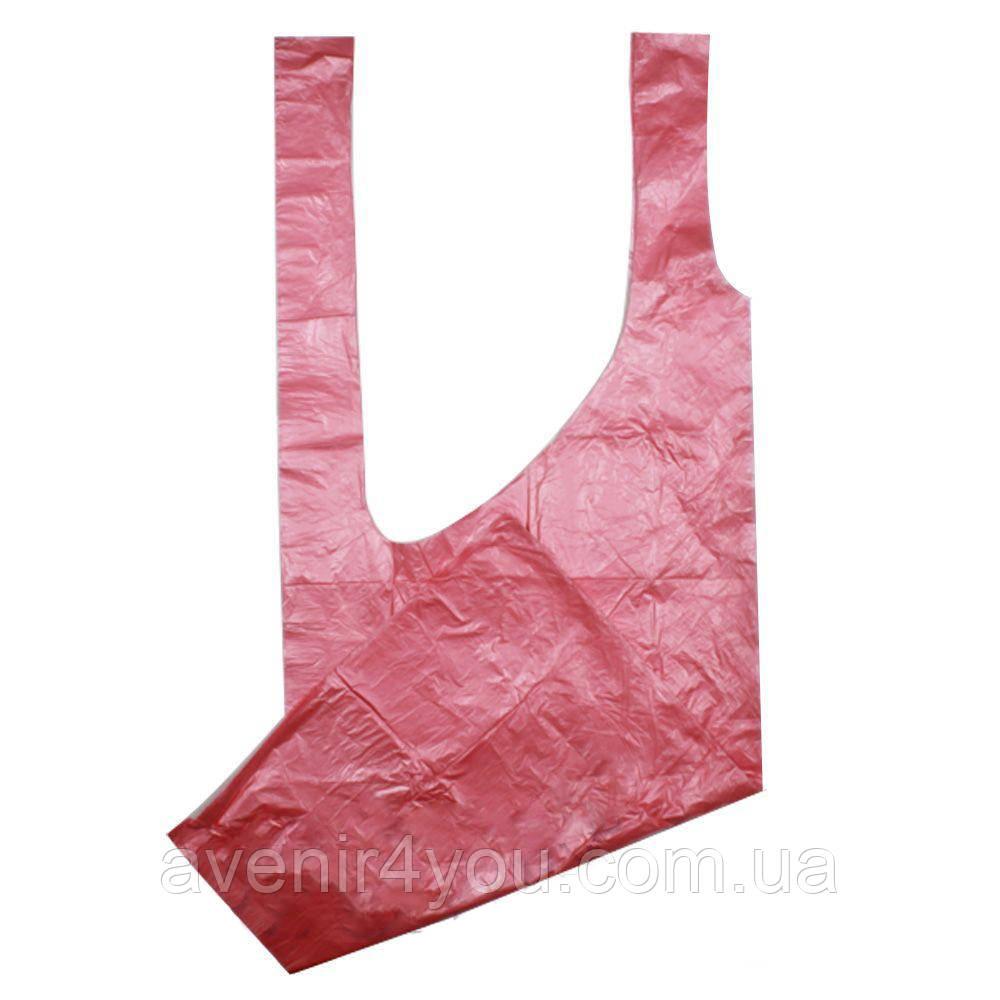 Фартук полиэтиленовый 100*150см Розовый (100шт в упаковке)
