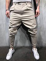 Мужские брюки бежевые P1102